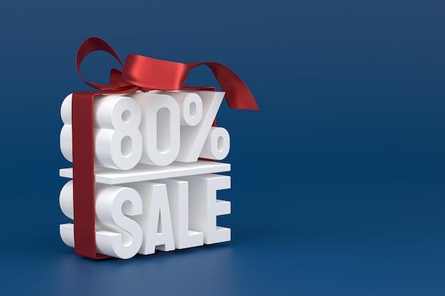 80% Vente Avec Arc Et Ruban 3d Design Sur Fond Vide Photo Premium