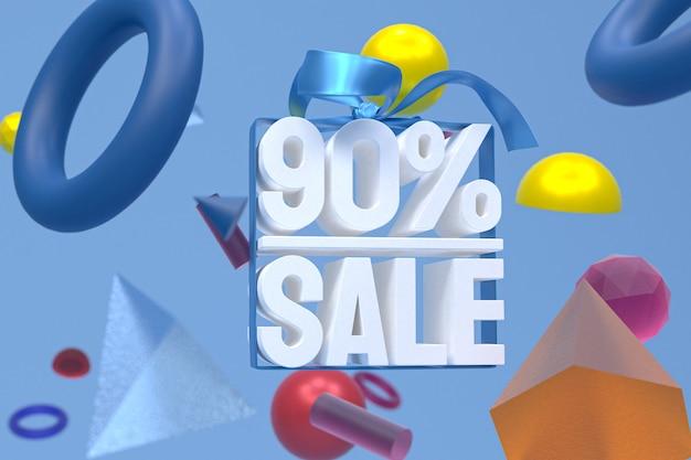 90% vente avec arc et ruban design 3d sur géométrie abstraite