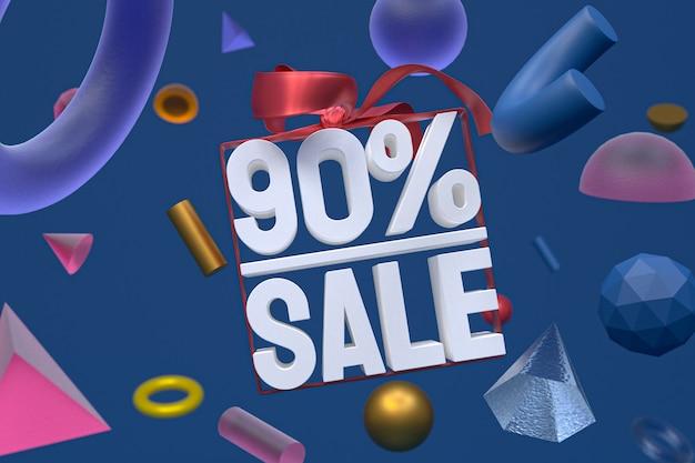 90% vente avec noeud et ruban