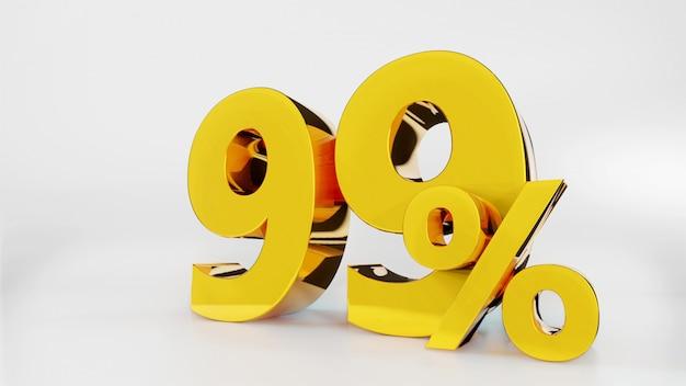 99% symbole d'or
