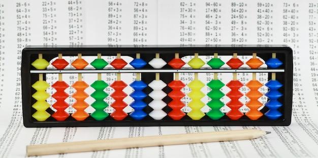 Abacus pour le calcul mental, dans le contexte des exemples à résoudre.