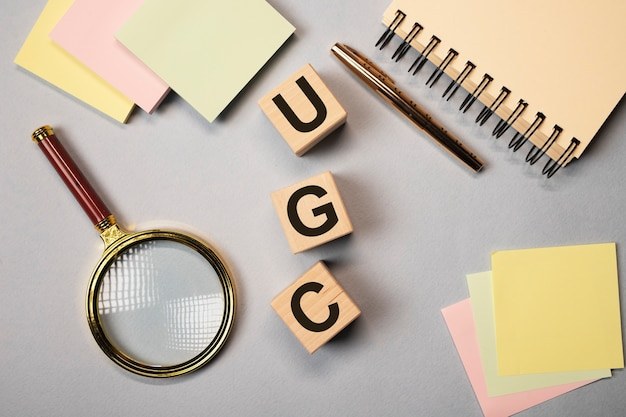 Abréviation ugs ou acronyme de contenu généré par l'utilisateur, mot.