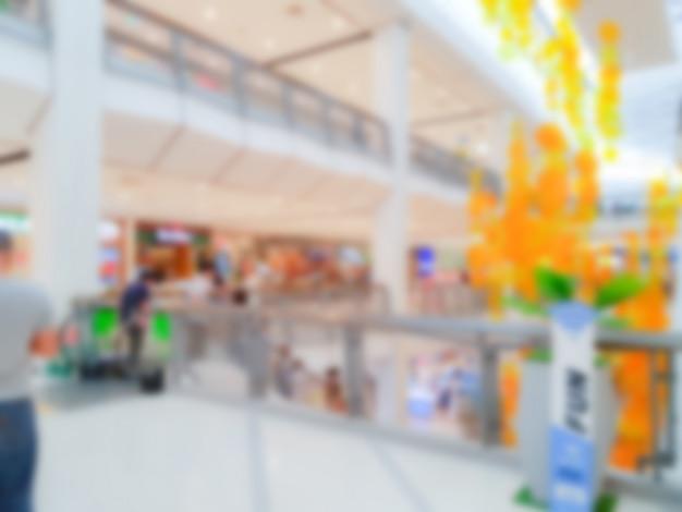 Abstinent les gens dans les centres commerciaux.