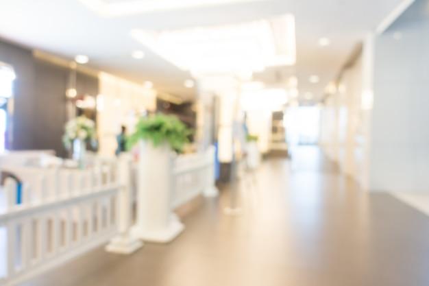 Abstract blur hotel interior