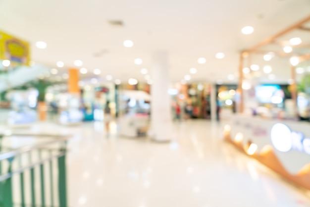 Abstract flou boutique et magasin de détail dans un centre commercial pour