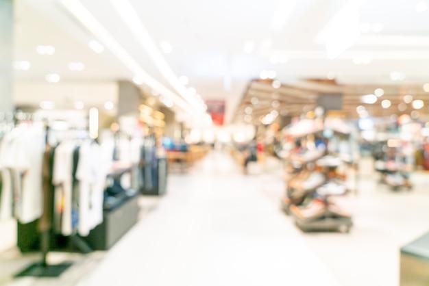 Abstract flou boutique et magasin de détail dans un centre commercial