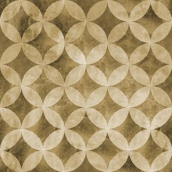 Abstract grunge ancien modèle sans couture de cercles qui se chevauchent. fond de texture beige aquarelle dessinés à la main. éléments en forme de sphère géométrique aquarelle. impression pour textile, papier peint, emballage
