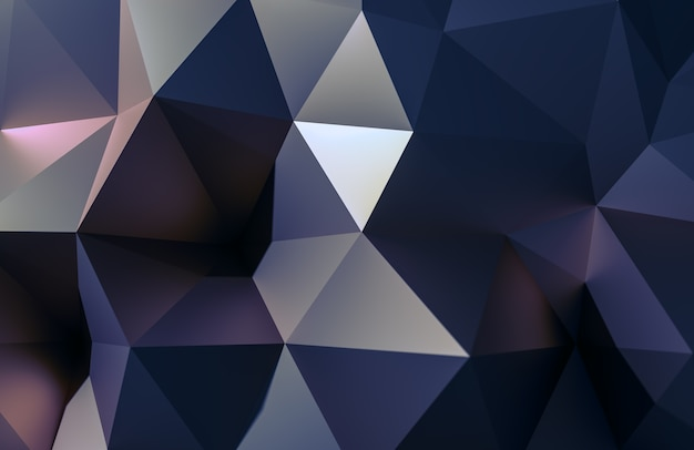 Abstract illustration 3d or polygonale, forme low poly pour la conception.