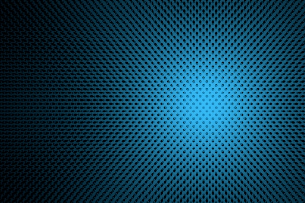 Abstract illustration futuriste à pois dans les couleurs bleus et noirs.
