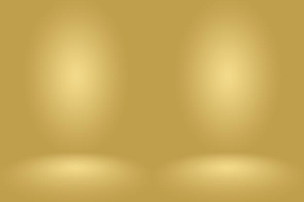 Abstract luxury gold studio bien utilisé comme arrière-plan, mise en page et présentation.