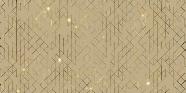 Abstraction géométrique de pixel de triangle d'or rendu 3d d'arrière-plan élégant et sophistiqué