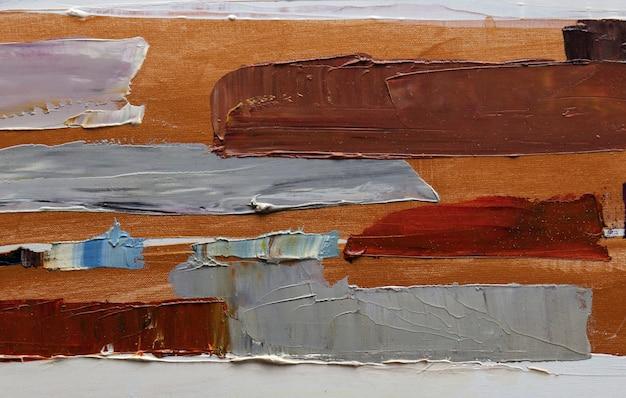 Abstraction peinture à l'huile art simple