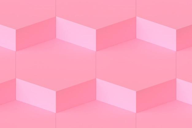 Abstrait 3d minimaliste hexagone modulaire rendu 3d