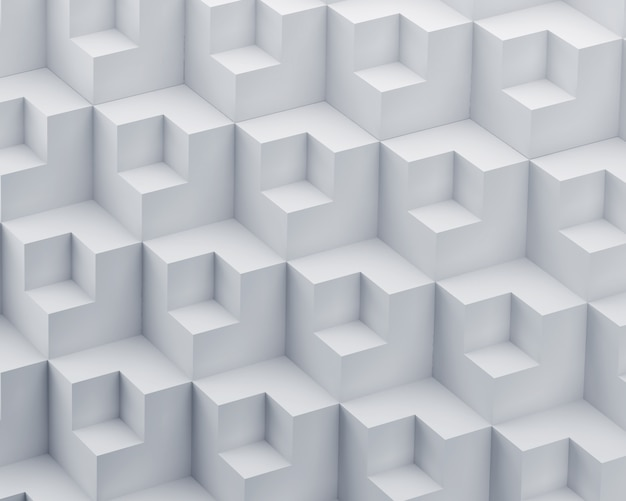 Abstrait 3d de polygone blanc.