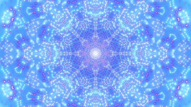 Abstrait 4k uhd néon points fleur et étoile illustration 3d