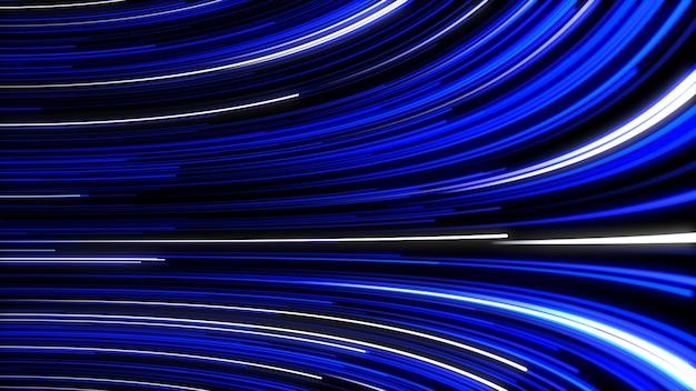 Abstrait avec animation se déplaçant de lignes pour réseau de fibre optique.