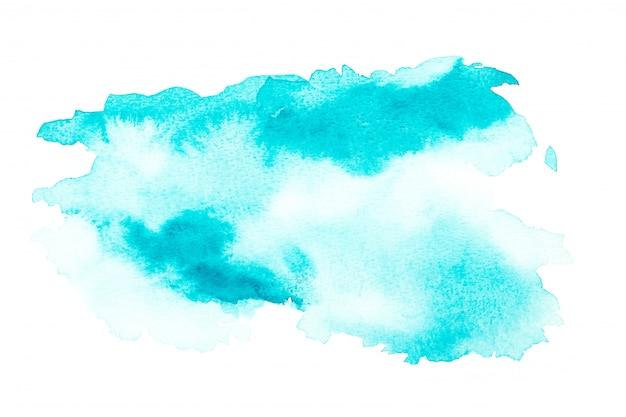 Abstrait aquarelle bleu. la couleur éclabousse sur le papier. dessiné à la main.