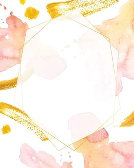 Abstrait aquarelle. cadre géométrique peint à la main