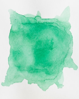 Abstrait aquarelle avec une éclaboussure d'ombre émeraude de peinture aquarelle