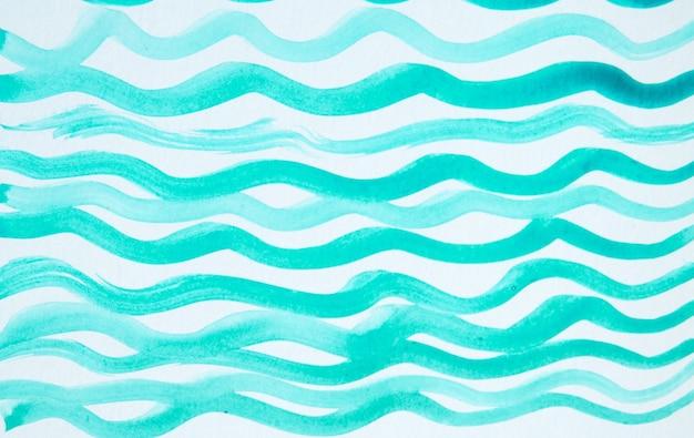 Abstrait aquarelle avec des lignes ondulées, simple dessin mignon.