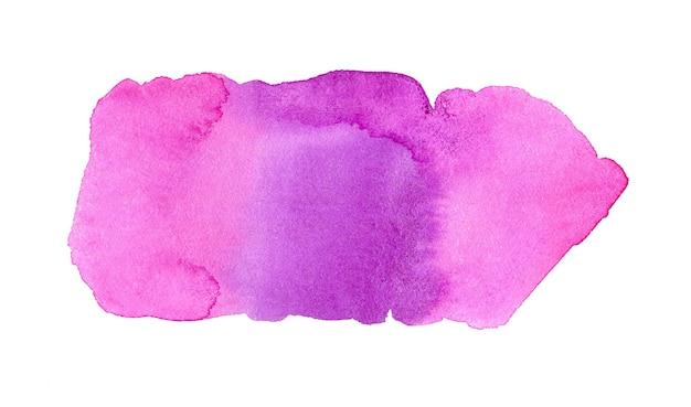 Abstrait aquarelle violet et rose. tache d'aquarelle dessinée à la main. élément artistique de conception violette pour bannière, modèle, impression et logo