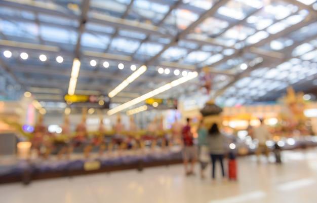 Abstrait arrière-plan flou de l'aéroport