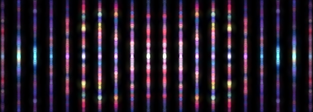 Abstrait arrière-plan flou de fond coloré vertical de la texture du motif bokeh multicolore. illustration 3d. rendu 3d. flou numérique plusieurs lignes de bokeh arc-en-ciel pour fond d'écran de bannière d'arrière-plan
