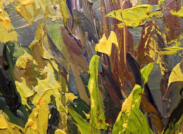 Abstrait art coloré fond peinture acrylique coups de pinceau fragment de peinture acrylique sur toile art contemporain oeuvre pour un design créatif