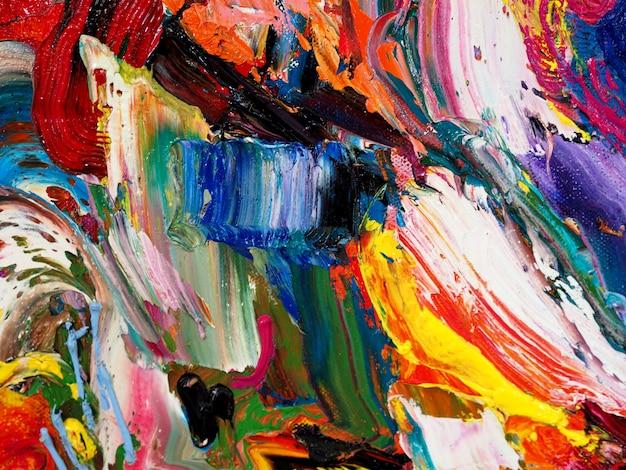Abstrait et art coloré texturé.