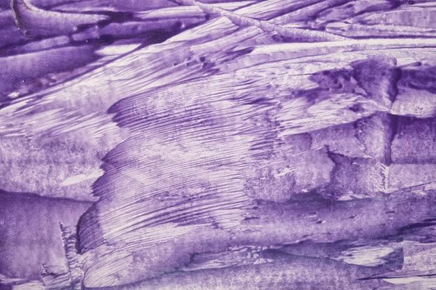 Abstrait art couleurs violettes et blanches. peinture à l'aquarelle sur toile avec des traits violets et des éclaboussures