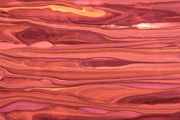 Abstrait art fluide fond couleurs rouge et violet foncé. marbre liquide. peinture acrylique sur toile avec dégradé marron