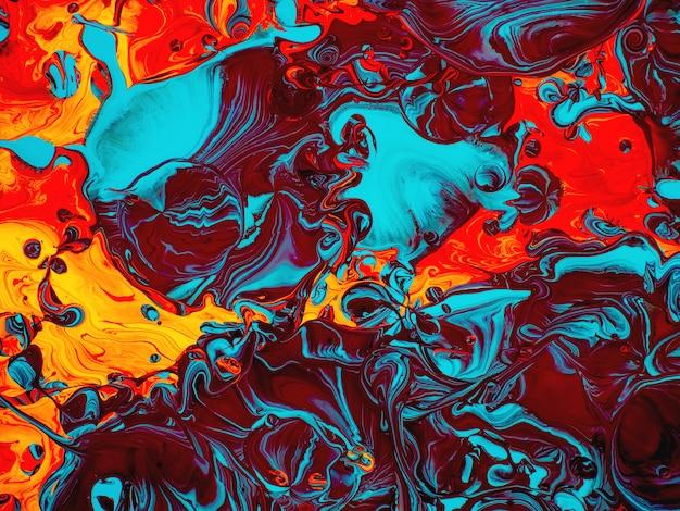 Abstrait artistique peinture colorée