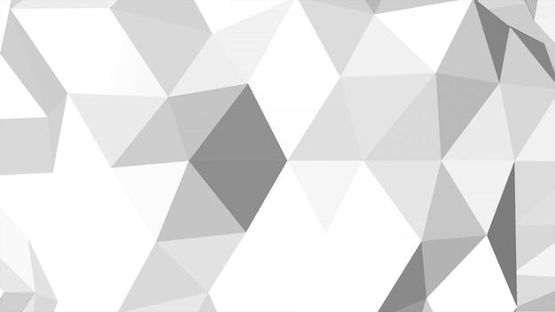Abstrait blanc low poly, forme géométrique de triangles. style dynamique élégant et luxueux pour les entreprises, illustration 3d
