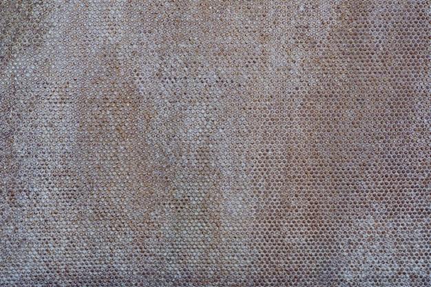 Abstrait blanc en métal rouillé.