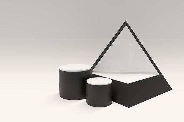 Abstrait blanc avec podium de forme géométrique pour produit. rendu 3d photo premium