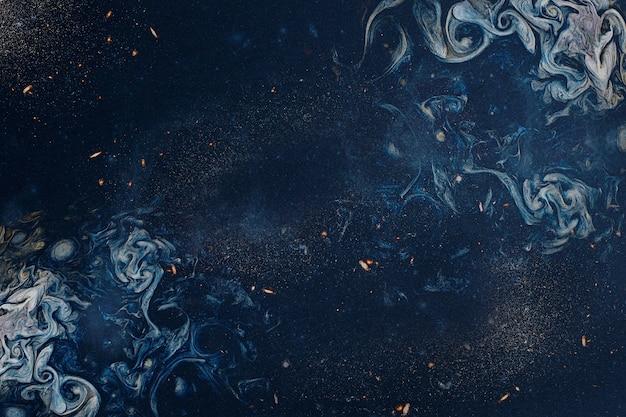 Abstrait Bleu Art Enfumé Photo gratuit