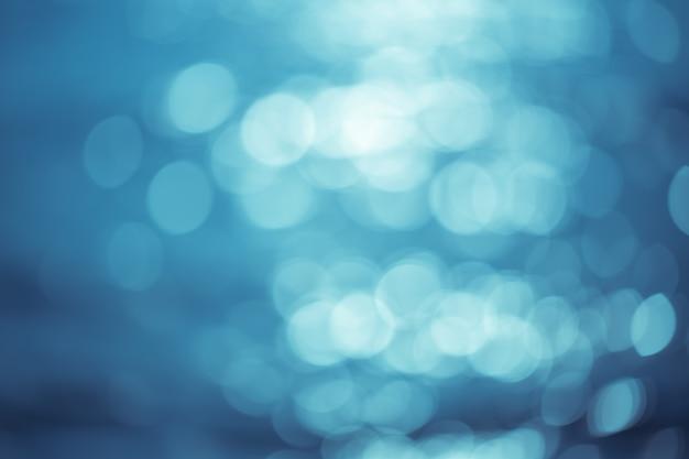 Abstrait bleu avec bokeh
