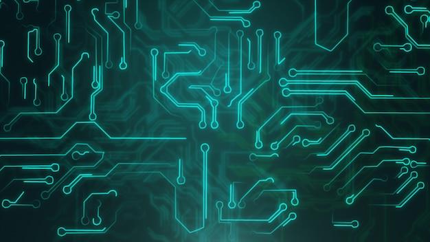 Abstrait bleu avec circuit imprimé de haute technologie