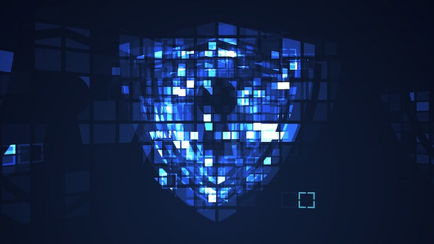 Abstrait bleu cyber technologie numérique de la technologie numérique