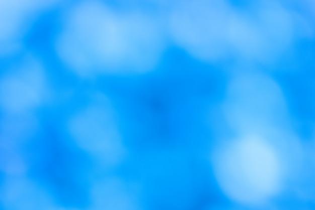Abstrait bleu flou bokeh blanc