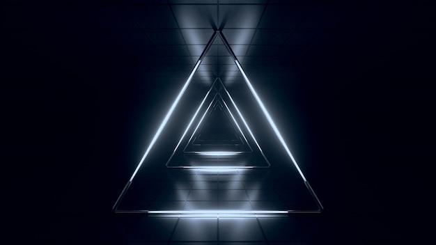 Abstrait bleu futuriste blanc