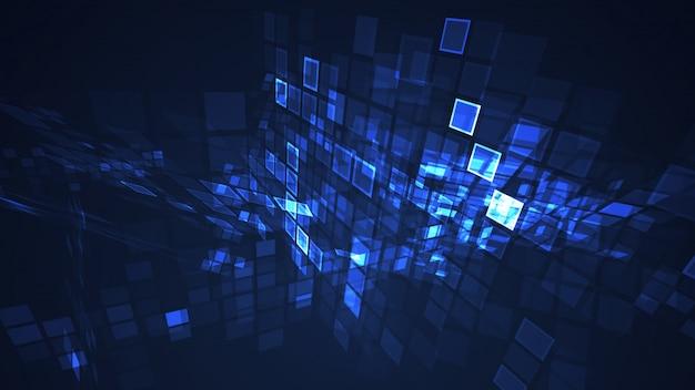 Abstrait bleu graphique fond de perspective grille rectangle clignotant