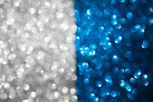 Abstrait bleu et gris coloré de bokeh