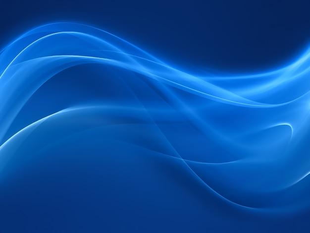 Abstrait bleu avec des lignes douces