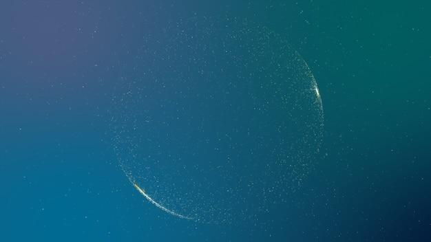 Abstrait bleu numérique avec particules et zones scintillantes
