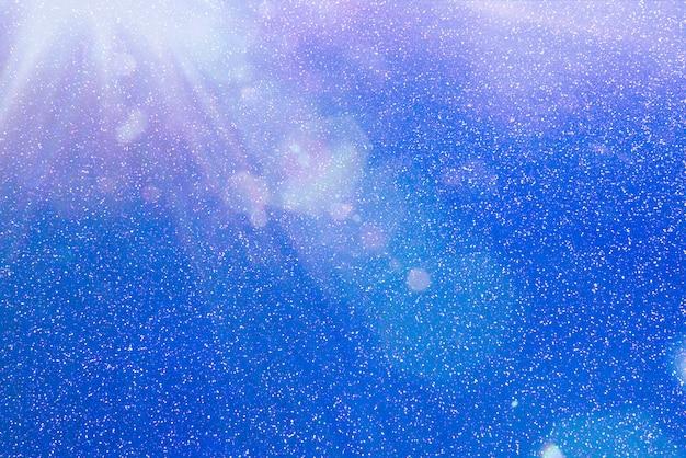 Abstrait bleu paillettes.