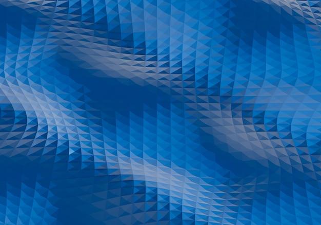Abstrait bleu. style 3d low poly. illustration du rendu 3d.