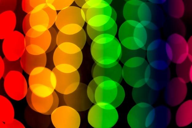 Abstrait bokeh arc-en-ciel coloré
