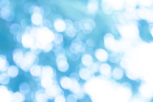 Abstrait bokeh bleu et blanc