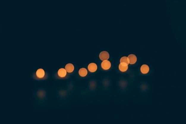 Abstrait bokeh dans la ville pendant la nuit